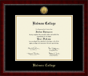 Babson College Gold Engraved Medallion Diploma Frame in Sutton