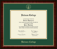 Babson College Gold Embossed Diploma Frame in Murano