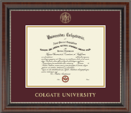 Gold Embossed Diploma Frame in Chateau