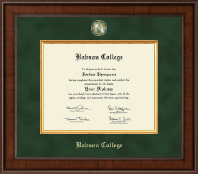 Babson College Presidential Masterpiece Diploma Frame in Madison