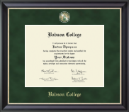 Babson College Regal Edition Diploma Frame in Noir