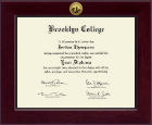 Brooklyn College Century Gold Engraved Diploma Frame in Cordova