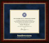 Gold Embossed Certificate Frame in Murano