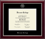 Siver Embossed Diploma Frame in Kensington Silver