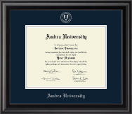 Silver Embossed Diploma Frame in Midnight