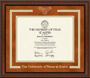 Longhorn Medallion Diploma Frame in Austin