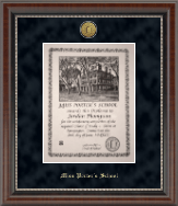 Gold Engraved Medallion Diploma Frame in Chateau