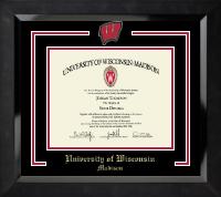 Spirit Motion W Medallion Diploma Frame in Eclipse