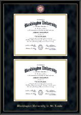 Double Diploma Masterpiece Medallion Frame in Onexa Gold