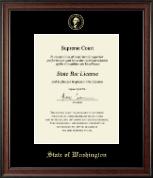 Gold Embossed Certificate Frame in Studio