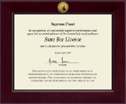 Century Gold Engraved Certificate Frame in Cordova