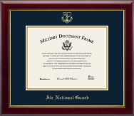 Gold Embossed Air National Guard Certificate Frame in Gallery