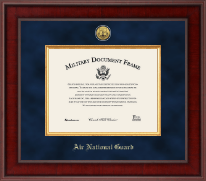 Presidential Gold Engraved Air National Guard Certificate Frame in Jefferson