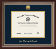 Gold Engraved Air National Guard Certificate Frame in Hampshire
