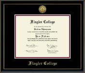Gold Engraved Medallion Diploma Frame in Onexa Gold