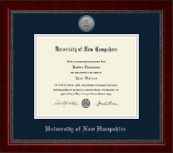 University of New Hampshire at Manchester Silver Engraved Medallion Diploma Frame in Sutton