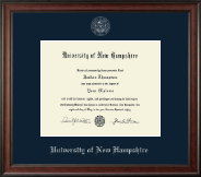 University of New Hampshire at Manchester Silver Embossed Diploma Frame in Studio