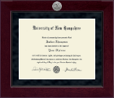 University of New Hampshire at Manchester Millennium Silver Engraved Diploma Frame in Cordova