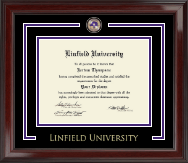 Linfield University Showcase Edition Diploma Frame in Encore