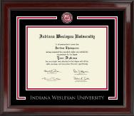 Indiana Wesleyan University  Showcase Edition Diploma Frame in Encore