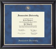 Immaculata University Regal Edition Diploma Frame in Noir