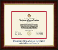 Navy Embossed Certificate Frame in Murano