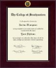 Century Gold Engraved Medallion Diploma Frame in Cordova