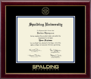 Spalding University Gold Embossed Diploma Frame in Gallery