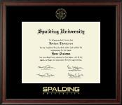 Spalding University Gold Embossed Diploma Frame in Studio