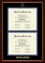 Spalding University Double Diploma Frame in Murano