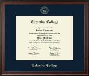 Catawba College Gold Embossed Diploma Frame in Studio