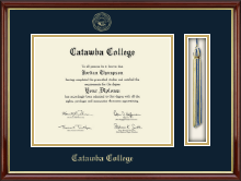 Catawba College Tassel Edition Diploma Frame in Southport Gold