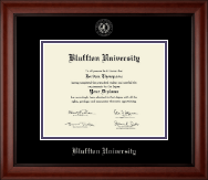 Bluffton University Silver Embossed Diploma Frame in Cambridge