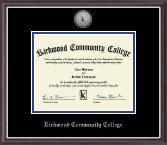 Kirkwood Community College Silver Engraved Medallion Diploma Frame in Devon