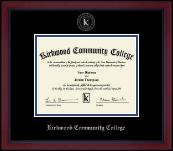 Kirkwood Community College Silver Embossed Diploma Frame in Academy
