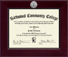 Kirkwood Community College Century Silver Engraved Diploma Frame in Cordova