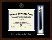 Kirkwood Community College Tassel Edition Diploma Frame in Delta
