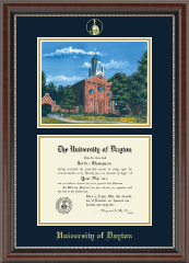 Campus Scene Diploma Frame in Chateau