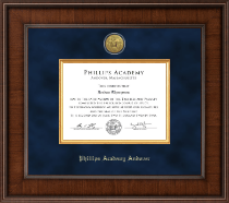 Phillips Academy Andover Presidential Gold Engraved Diploma Frame in Madison