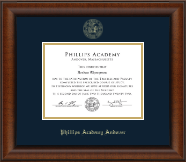 Phillips Academy Andover Gold Embossed Diploma Frame in Austin