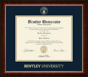 Bentley University Gold Embossed Diploma Frame in Murano