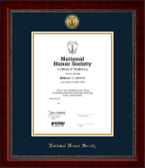 Gold Engraved Medallion Certificate Frame in Sutton
