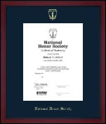 Gold Embossed Certificate Frame in Academy