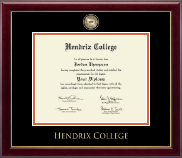 Hendrix College Masterpiece Medallion Diploma Frame in Gallery