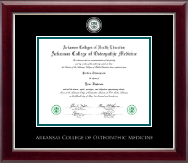 Arkansas Colleges of Health Education Masterpiece Medallion Diploma Frame in Gallery Silver
