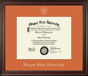 Oregon State University Silver Embossed Diploma Frame in Studio