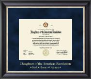 Gold Embossed Certificate Frame in Noir
