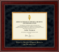 Presidential Gold Engraved Certificate Frame in Jefferson