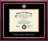 Oregon State University Masterpiece Medallion Diploma Frame in Gallery Silver