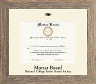Black Embossed Certificate Frame in Barnwood Gray